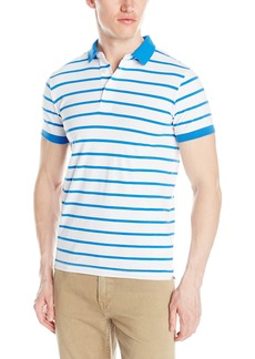 French Connection Men's Bleached Simple Stripe Short Sleeve Knit