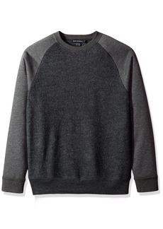 French Connection Men's Boiled Sweat Knit Hybrid Sweater  M