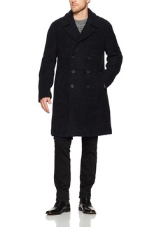 French Connection Men's Boucle Collared Long Coat  M
