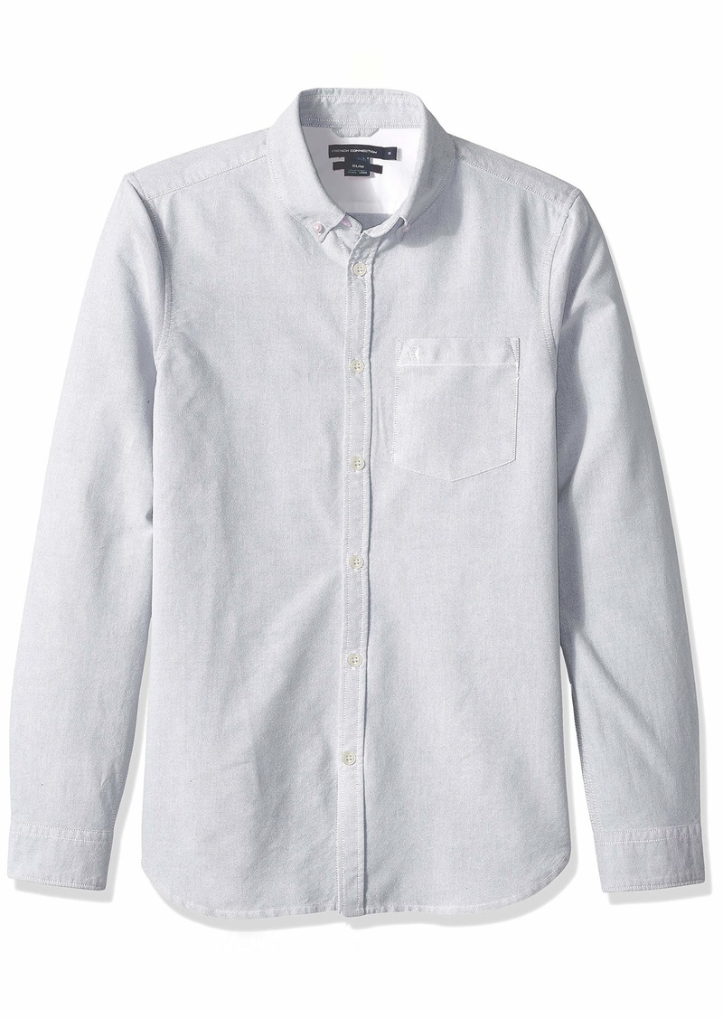 French Connection Men's Brushed Oxford Long Sleeve Button Down Shirt  M