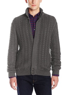 French Connection Men's Cable Guy Full Zip Sweater  L