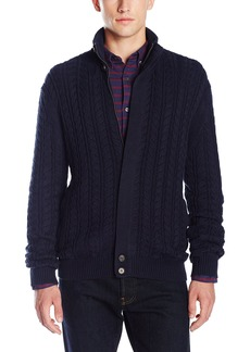 French Connection Men's Cable Guy Full Zip Sweater  M