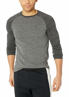 French Connection Men's Classic Raglan Crew Longsleeve Tee  M