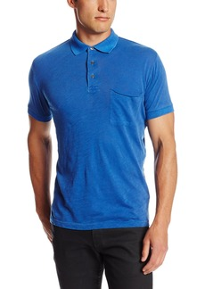 French Connection Men's Color Washed Slub Polo