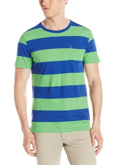 French Connection Men's Colorful Block Club Crew Knit T-Shirt