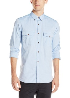 French Connection Men's Colorful Mixed Oxford Button Down Shirt