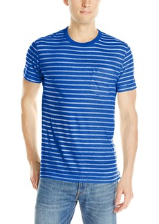 French Connection Men's Colorful Printed Stripe T-Shirt