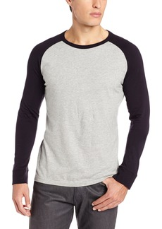 French Connection Men's Colorful Raglan Long Sleeve Tee