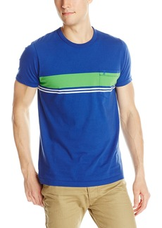 French Connection Men's Colorful Simple Stripe Pocket Tee