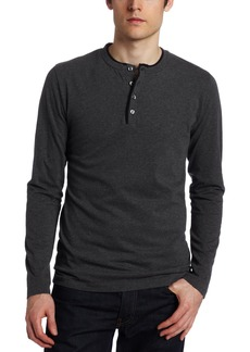 French Connection Men's Contrast Sneezy Long Sleeve Henley Shirt