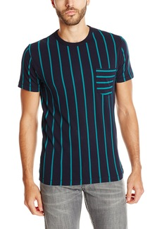 French Connection Men's Contrast Stripe Pocket T-Shirt