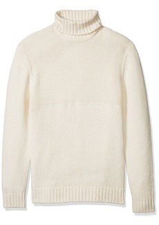 French Connection Men's Cotton Wool Contrast Direction Roll Neck Sweater  XL