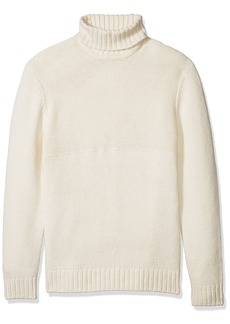 French Connection Men's Cotton Wool Contrast Direction Roll Neck Sweater  XXL