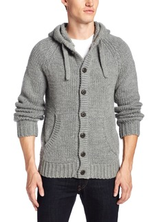 French Connection Men's Delta Chunky Hood Cardi