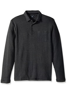 French Connection Men's Double Face Alternative Stripe Longsleeve Polo  XL