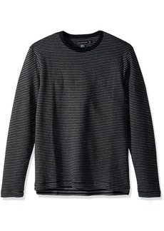 French Connection Men's Double Face Alternative Stripe Longsleeve Tee  L