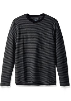 French Connection Men's Double Face Alternative Stripe Longsleeve Tee  XL