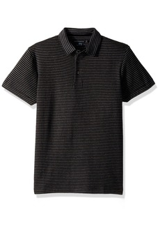 French Connection Men's Double Face Alternative Stripe Shortsleeve Polo  L