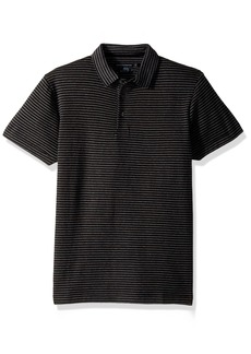 French Connection Men's Double Face Alternative Stripe Shortsleeve Polo  XXL