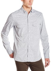 French Connection Men's Driver Chambray Long Sleeve Button Down Shirt