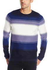 French Connection Men's Fenite Stripe Sweater Heron Ombre