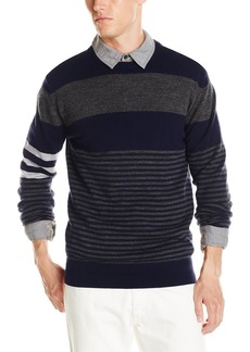 French Connection Men's Freighter Merino Stripe Sweater