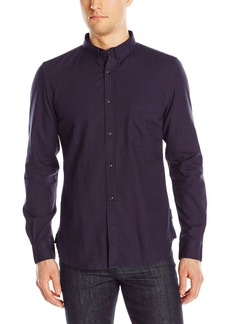 French Connection Men's Gully Check Long Sleeve Button-Down Shirt  L
