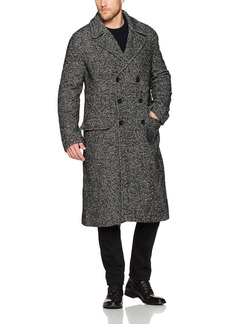 French Connection Men's Heavy Herringbone Long Coat  M