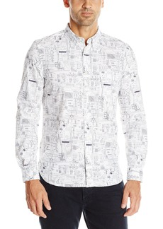 French Connection Men's Hells Handmaiden Long Sleeve Button-Down Shirt  S