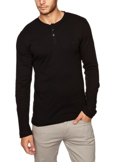 French Connection Men's Henleys Crew Neck Long Sleeve Tee