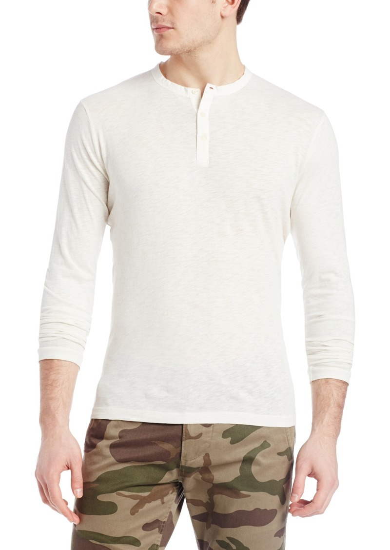 French Connection Men's Henleys New Slub Long Sleeve Crew