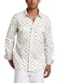 French Connection Men's Killer Bird Long Sleeve Button Down Shirt