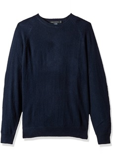 French Connection Men's Lambswool Needle Punch Elbow Patch Sweater  M