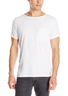 French Connection Men's Livingstone Solid Crew Neck Tee White Medium