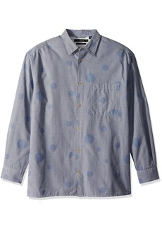 French Connection Men's Long Sleeve Bubble Button Down Shirt  M