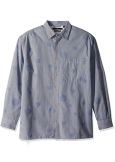 French Connection Men's Long Sleeve Bubble Button Down Shirt  XL