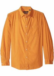 French Connection Men's Long Sleeve Corduroy Button Down Shirt CALLUNA Yellow Cord L