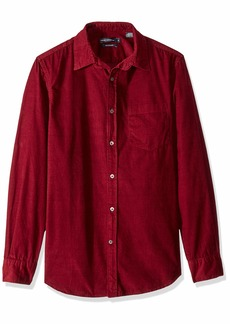 French Connection Men's Long Sleeve Corduroy Button Down Shirt  L