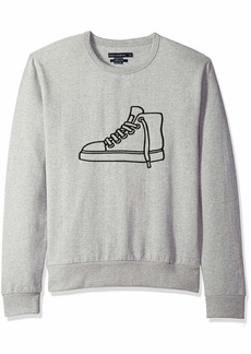 French Connection Men's Long Sleeve Graphic Sweatshirt  XXL