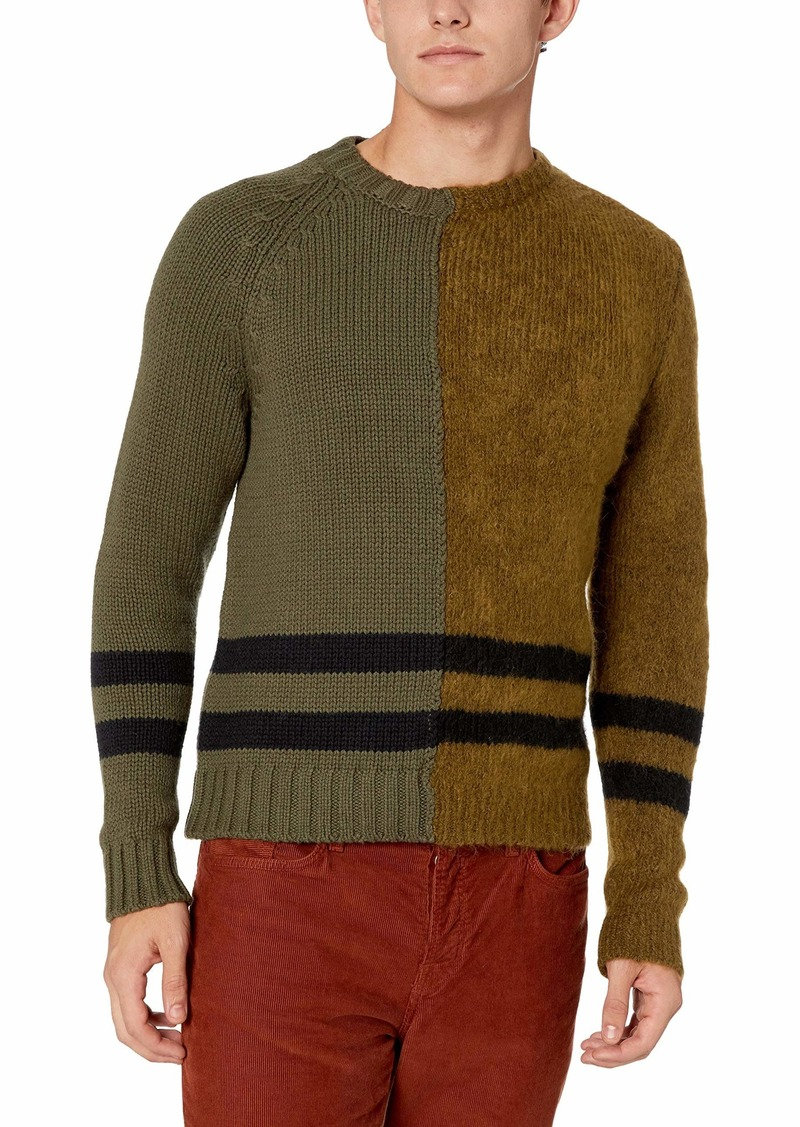 French Connection Men's Long Sleeve Mohair Stripe Sweater  S