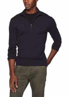 French Connection Men's Long Sleeve Stretch Cotton Sweater  M