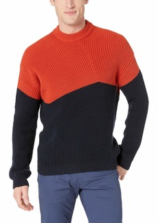 French Connection Men's Long Sleeve Stretch Half Zip Sweater  S