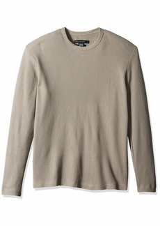French Connection Men's Long Sleeve Waffle Jersey Crew  S