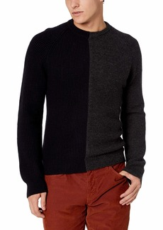 French Connection Men's Long Sleeve Wool Blend Crewneck Sweater  S