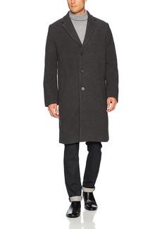 French Connection Men's Loose Crombie Coat Charcoal Grey Melange