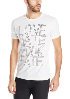 French Connection Men's Love Hate Fcuk Fate T-Shirt