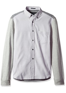 French Connection Men's Multi Melange Mix Shirt Regular  M