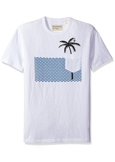 French Connection Men's Palm Tree Short Sleeve T-Shirt  XXL