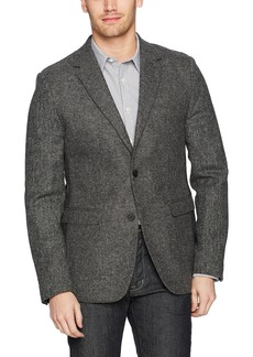 French Connection Men's Patchwork Wool Blazer