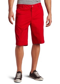 French Connection Men's Peached Twill Flat Front Shorts
